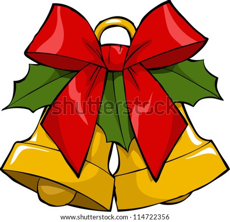 Christmas bells on a white background vector illustration