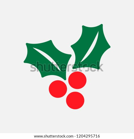 Christmas berry icon decoration vector