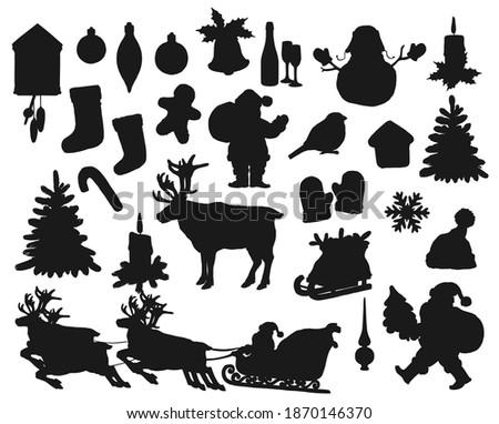 christmas black silhouettes
