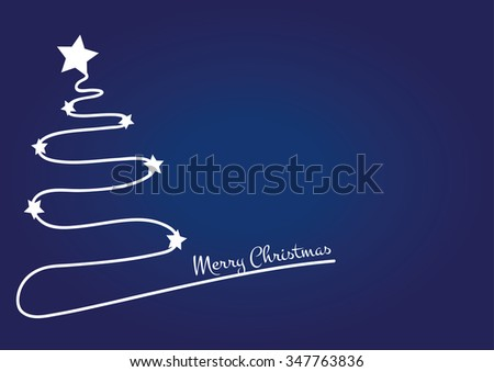 christmas blue background with