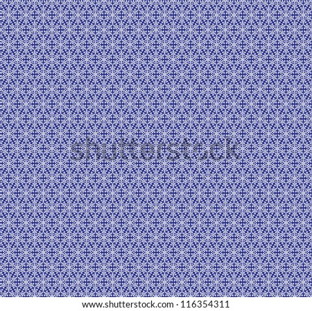 Christmas blue background with snowflakes. Seamless lace pattern