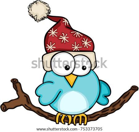 christmas blue bird