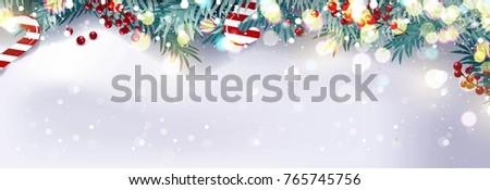 christmas border or frame with