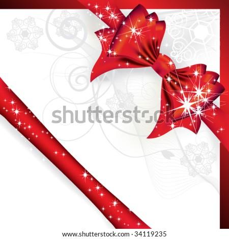 Christmas bow - stock vector
