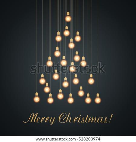 christmas bulb lights arranged