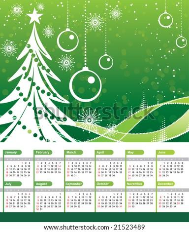 christmas calendar 2009