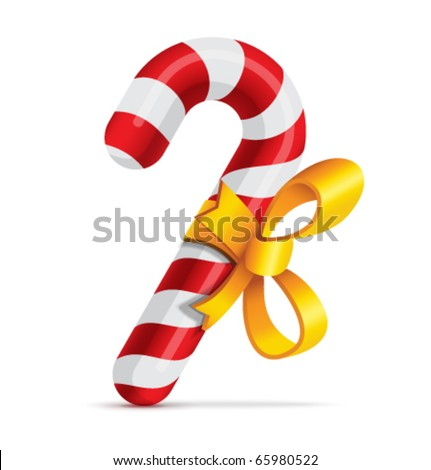 Christmas candy - stock vector