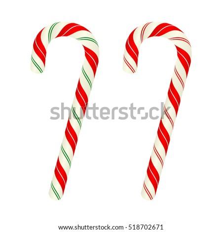 Christmas candy canes, vector design