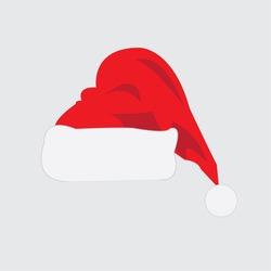 Christmas cap icon - vector illustrator