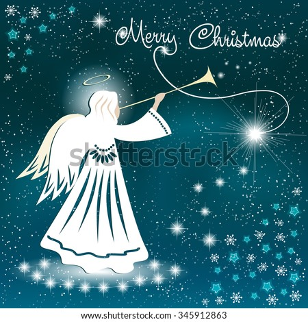 christmas card angel and the