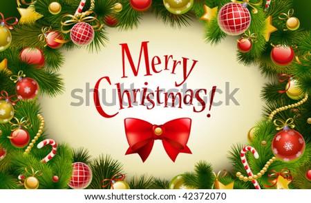 Christmas card background - stock vector