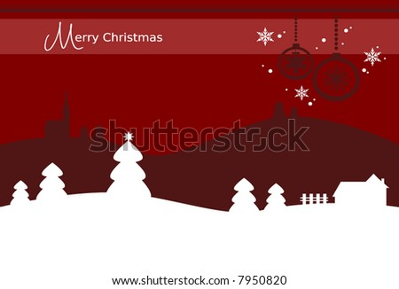 christmas card background with