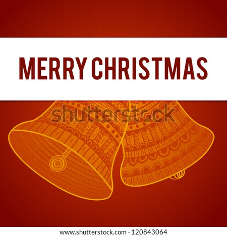 Christmas card. Celebration background with christmas bells and place for your text. This vector illustration is fully editable