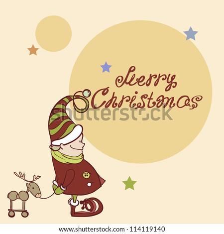 Christmas Card. Christmas Elf