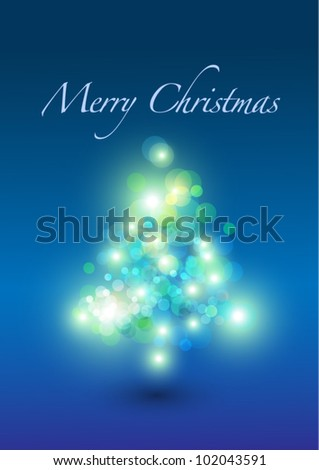christmas card (christmas tree and lights)
