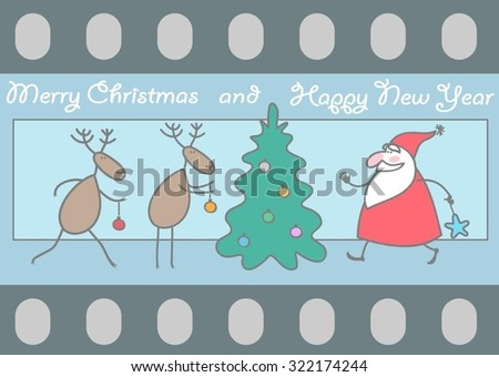 christmas card cinematographic