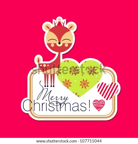 Christmas card design (vector version) - stock vector