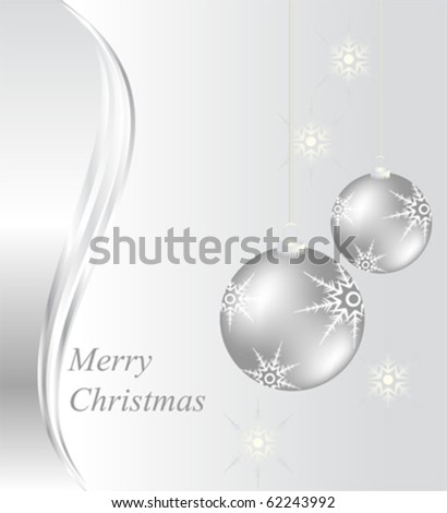 Christmas card design with baubles