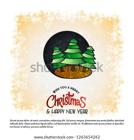 Christmas card design with elegant design and elegant background