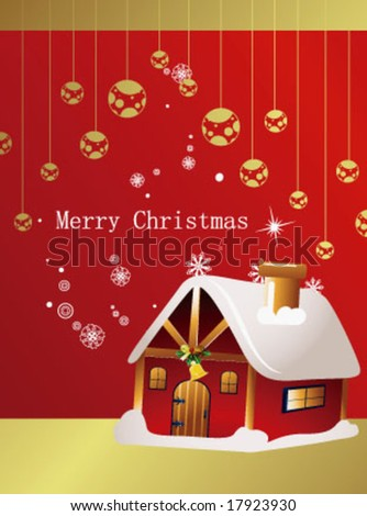 Home Design on Christmas Card Design With House Stock Vector 17923930   Shutterstock
