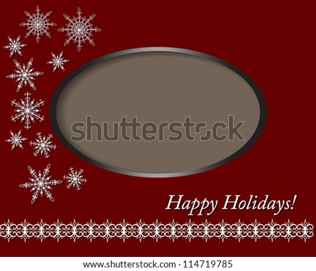 Christmas Card design with photo frame, Vector