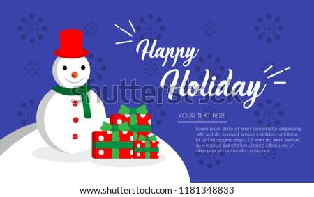 Christmas Card for December Holidays