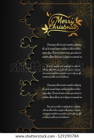 Christmas card from vector.Merry christmas in 2016