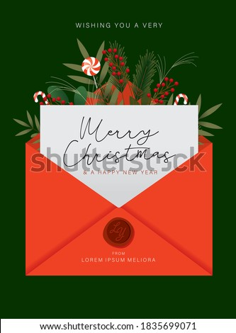 christmas card greetings template vector/illustration Foto stock ©