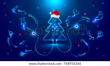 christmas card in the style of