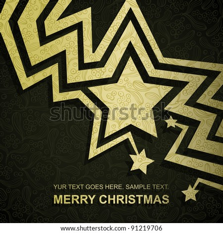 christmas card made of gold