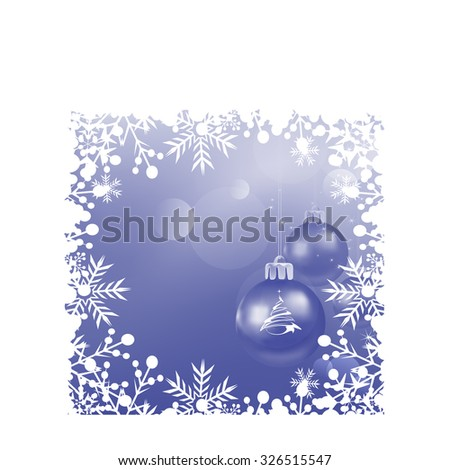 Christmas card merry christmas wallpaper background christmas day holiday christmas ornaments cute background blue color vector illustration