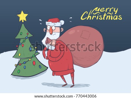 christmas card of funny