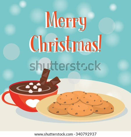 christmas card plate of