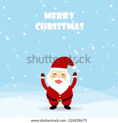 Christmas card,Santa Claus is coming. Merry Christmas