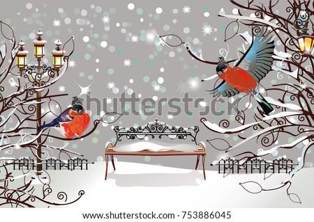 christmas card snow covered