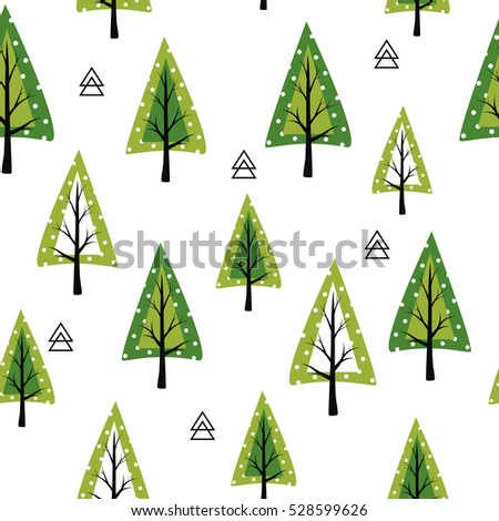 Christmas card template. New Year collection. Greeting seasonal for scrapbooking and invitations. Floral seamless background. - Shutterstock ID 528599626