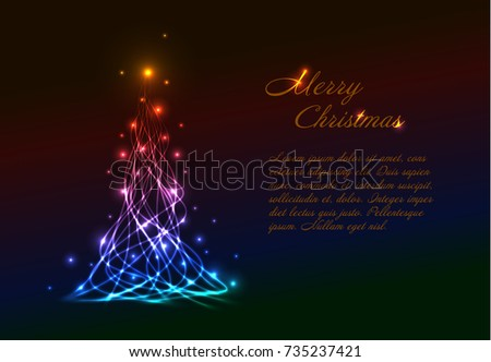 christmas card template with