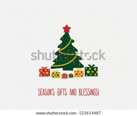 christmas card tree gifts