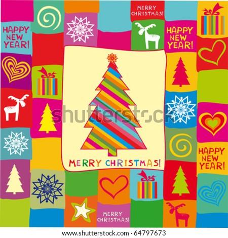 christmas card. vector