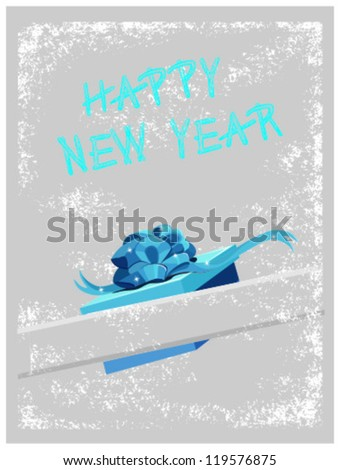 Christmas card (vector) - HAPPY NEW YEAR