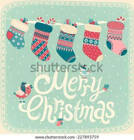 christmas card. vector...