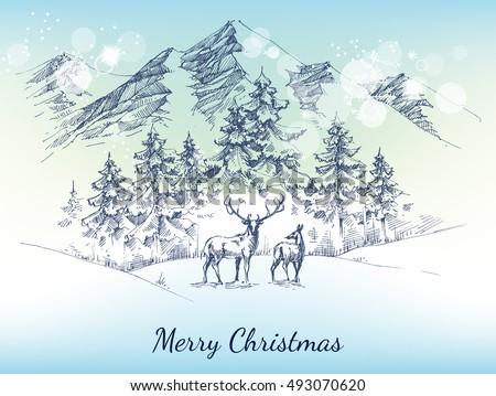 christmas card winter