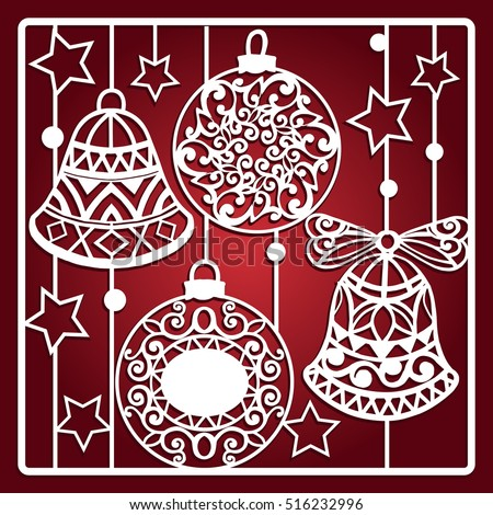christmas card with bells for...