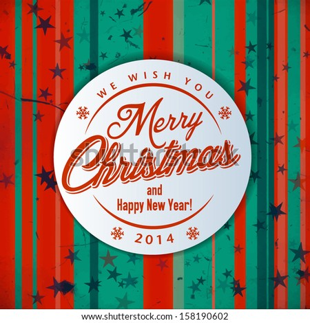 Christmas Card with calligraphic and typographic elements