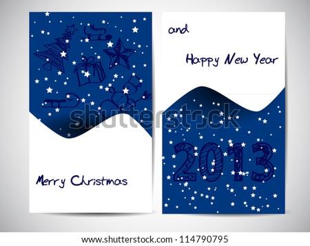 christmas card with christmas decoration