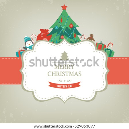 christmas card with christmas