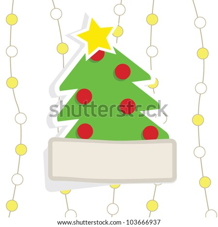christmas card with christmas tree background