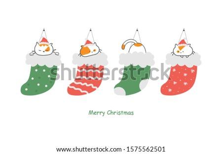 christmas card with cute