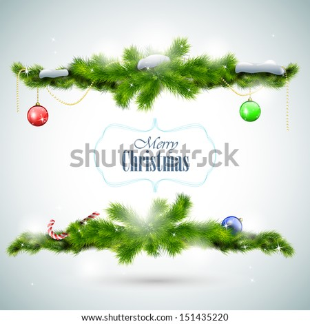 christmas card with fir