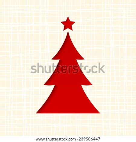 Christmas card with fir-tree. Vector eps-10.